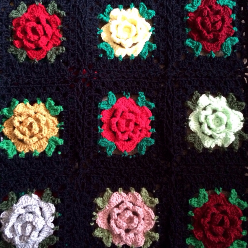 Crochet Rose Pattern Granny Square : Rose Granny Square: Free Pattern CypressTextiles